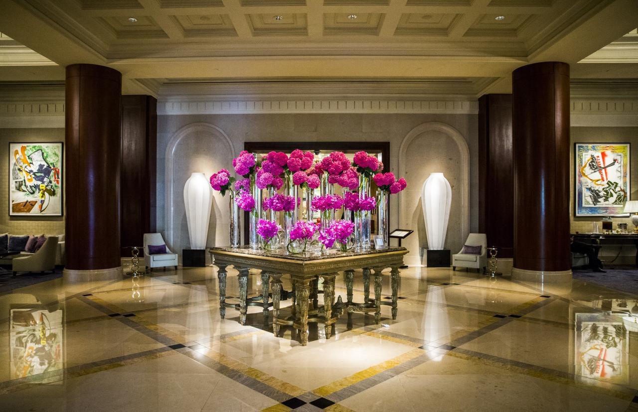The lobby of the five-star Ritz-Carlton Dallas.