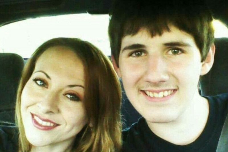 Zach Poston, 18, and his mother, Jennifer.