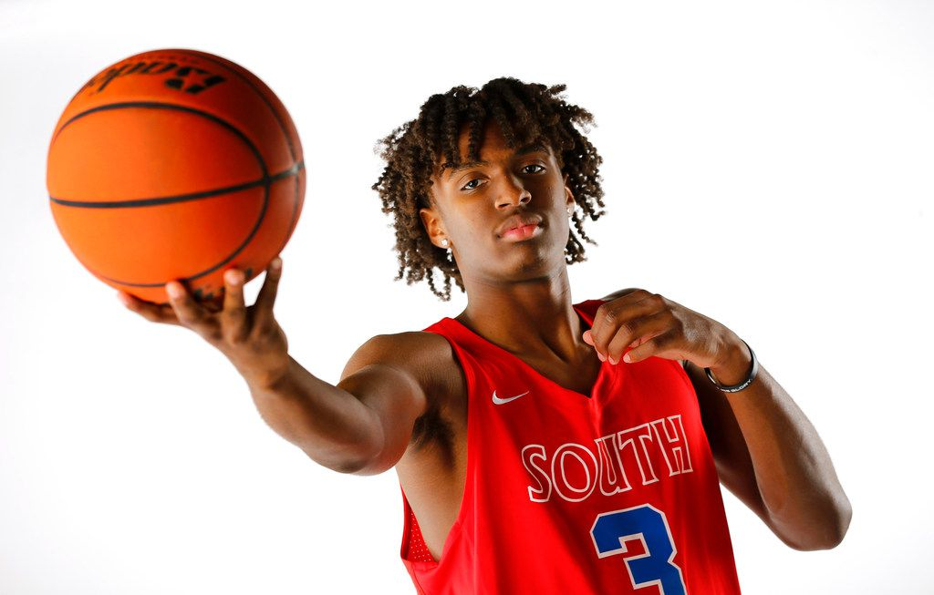 South Garland junior Tyrese Maxey is the 2018 Dallas Morning News boys basketball player of the year.  He poses in the studio, Thursday, March 22, 2018.