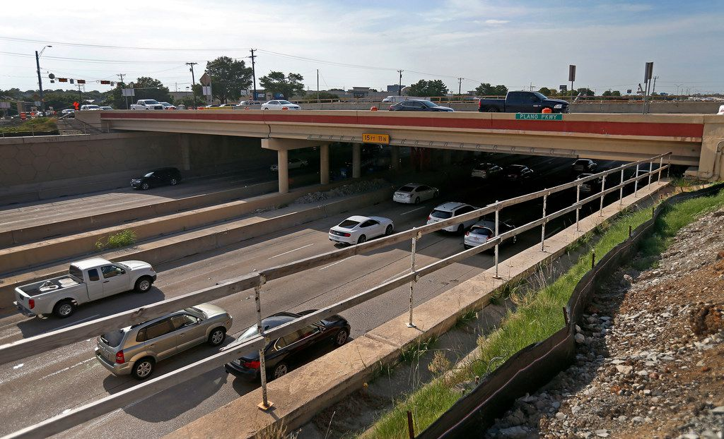 Traffic moves on U.S. Highway 75, Central Expressway, under the Plano Parkway bridge. It's unclear if any of these vehicles are speeding.