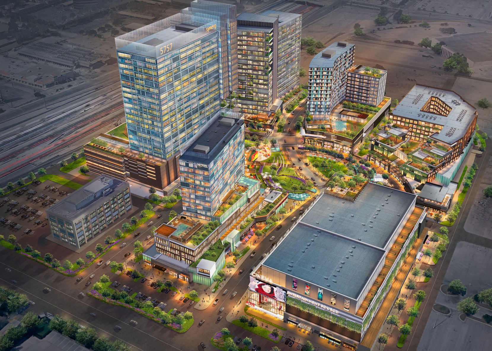 The 23-acre mixed-use project is part of the 40-block Dallas Midtown redevelopment.