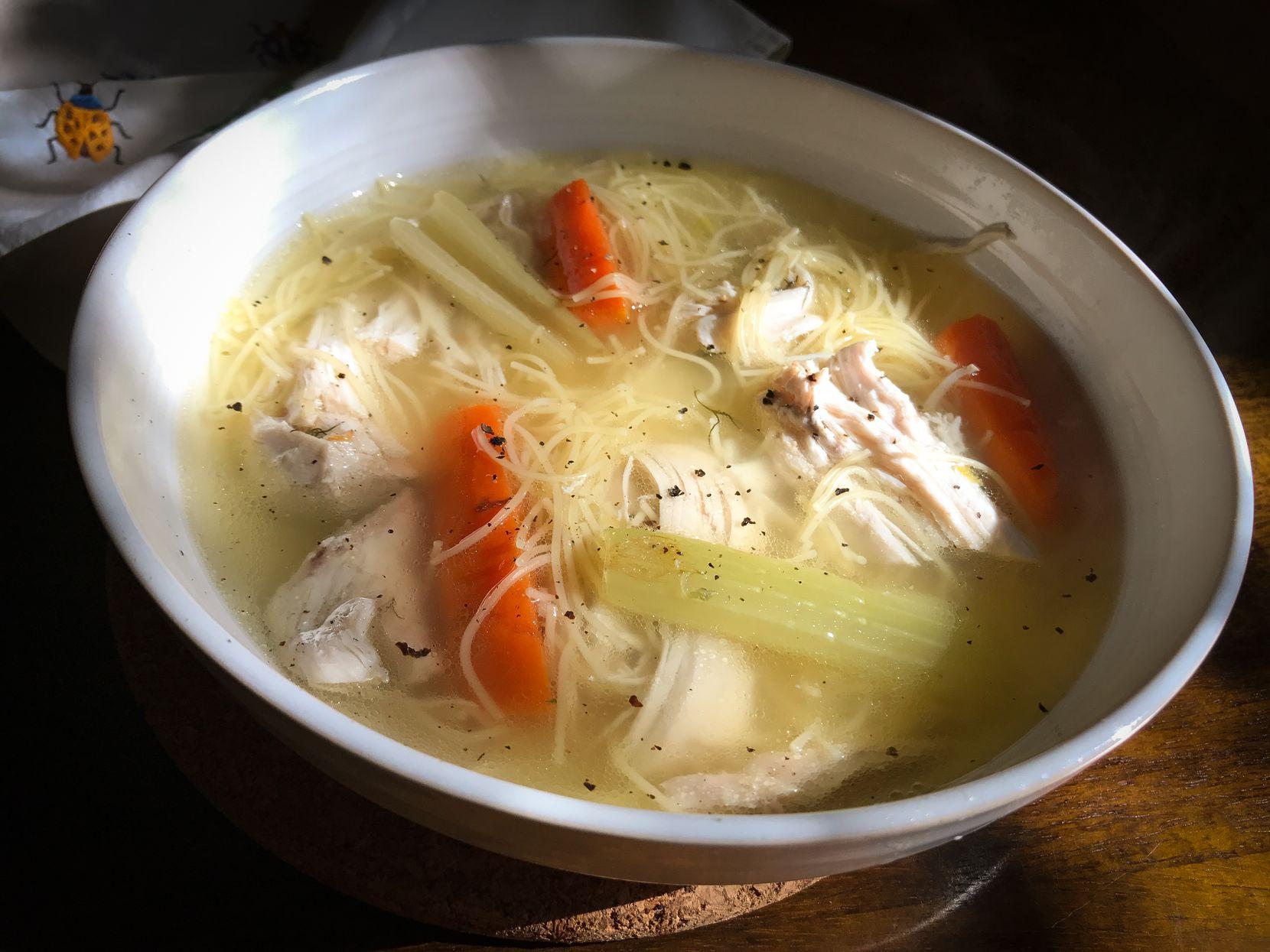 Leslie Brenner's chicken soup