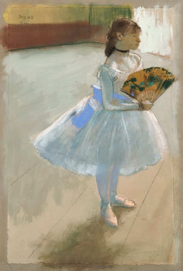 Edgar Degas, French, 1834 to 1917, Dancer with a Fan, 1879.