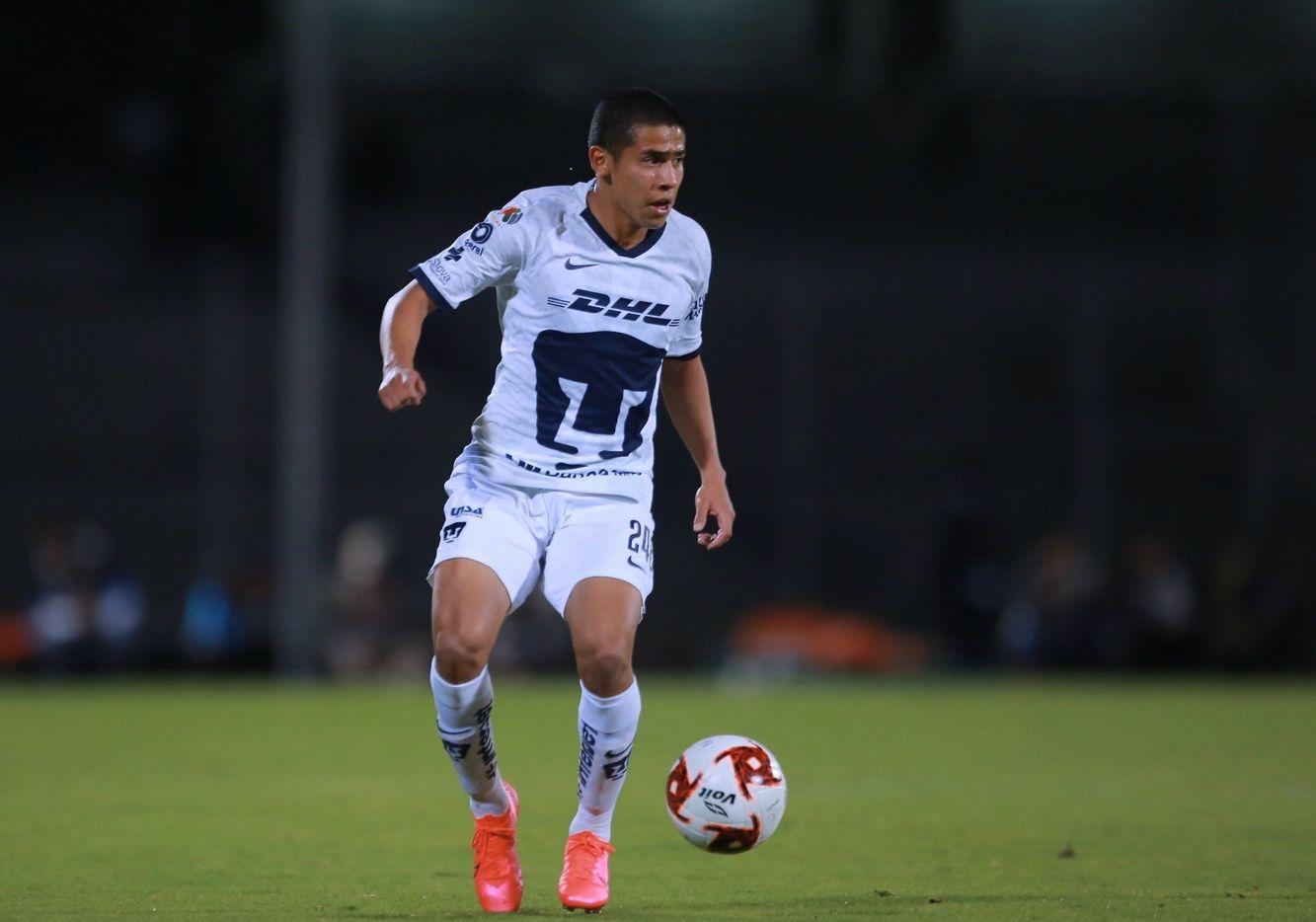 Jesús Rivas debutó en el Torneo Clausura 2020 con Pumas de la UNAM.
