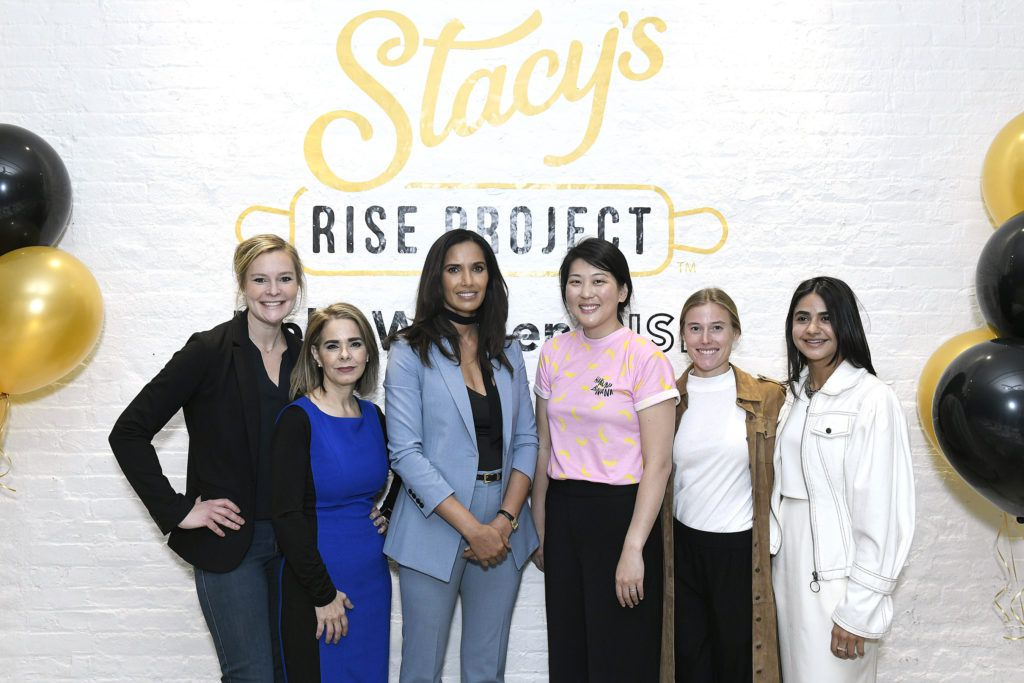 Padma Lakshmi (third from left) celebrates female founders in the food and beverage industry at a luncheon marking the culmination of the Stacy's Rise Project on November 4, 2019, in New York City.