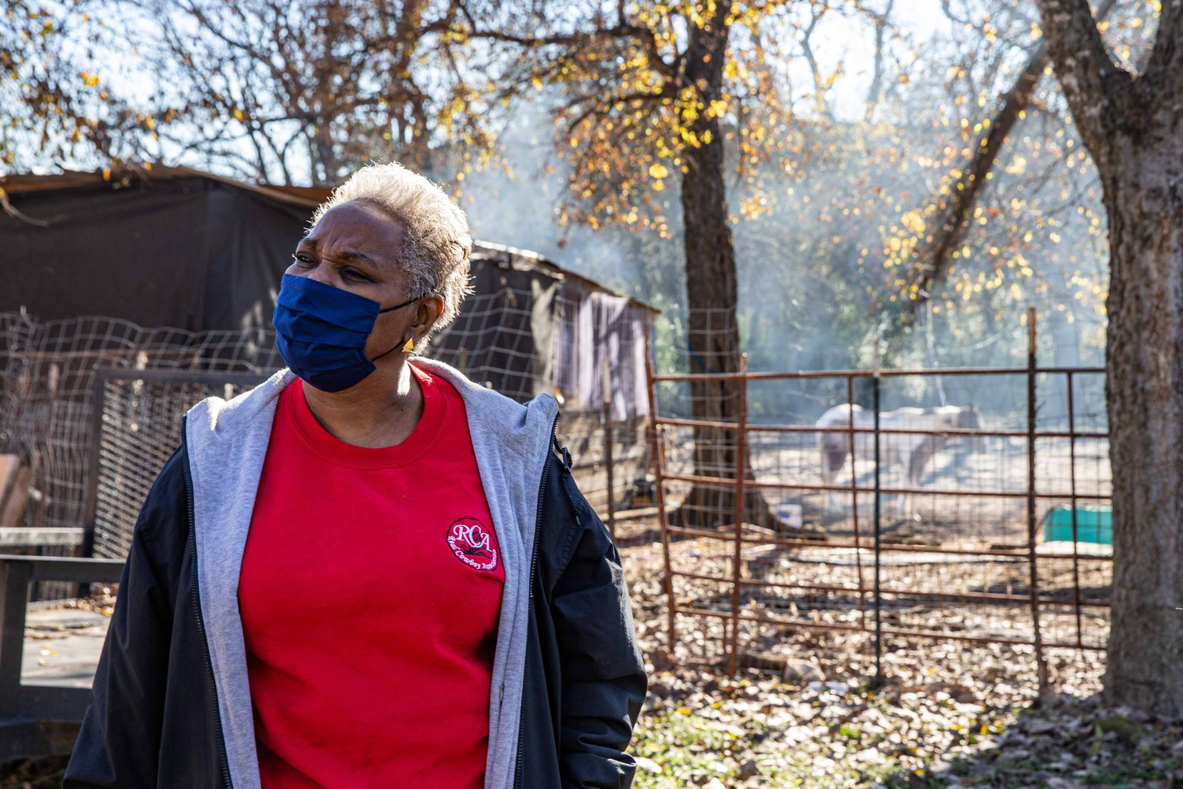 """All of us are glad that they're finally moving it, but we can't be overjoyed and happy until it's completely gone and the property is completely cleaned,"" says Marsha Jackson, 62, who has lived in her brick ranch-style home on Choate Road for 25 years. ""We've suffered for so long. And we're still suffering."""