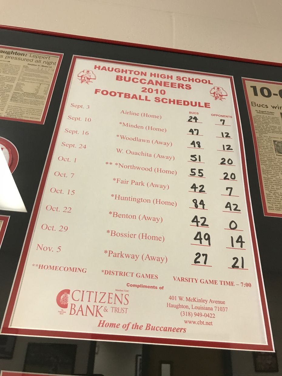Dak Precott led Haughton High to its first undefeated regular season, detailed game by game here, in 2010. (Jori Epstein/The Dallas Morning News)