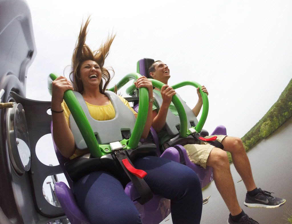 The Joker, a free-fly coaster, will be coming to Six Flags over Texas in 2017. This identical coaster is at Six Flags New Jersey.