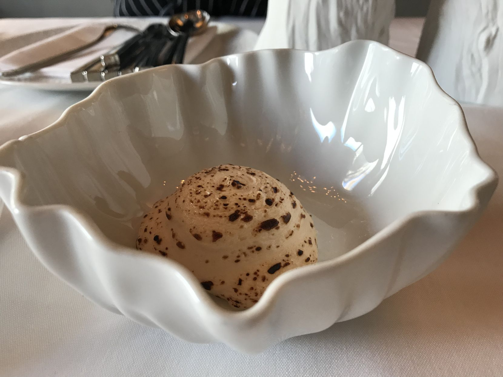 """The """"glorious scallops mousse"""" served by Diego Fernandez at his tryout dinner"""