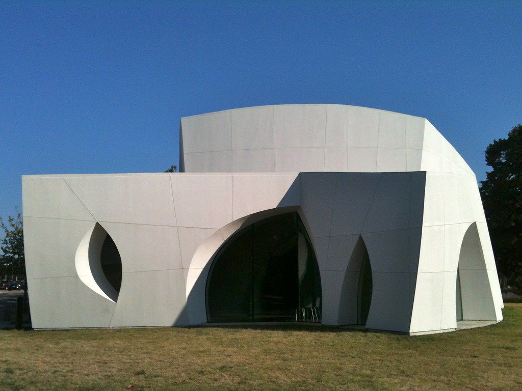 The Interfaith Peace Chapel,  a modern masterpiece designed by architect Philip Johnson, sits on the property of the Cathedral of Hope.