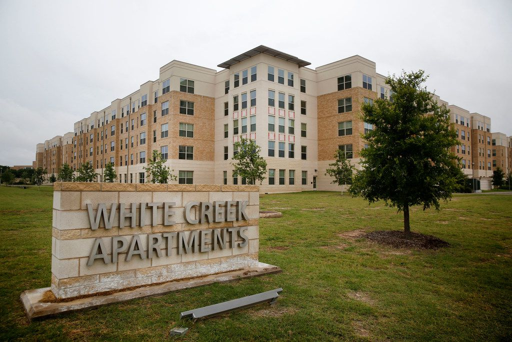 The White Creek Apartments at Texas A&M University campus in College Station.