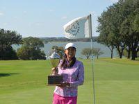 Mina Hardin of Fort Worth won the Women s Senior Stroke Play Championship at Waco s Ridgewood Country Club on Friday, Oct. 15, 2021.