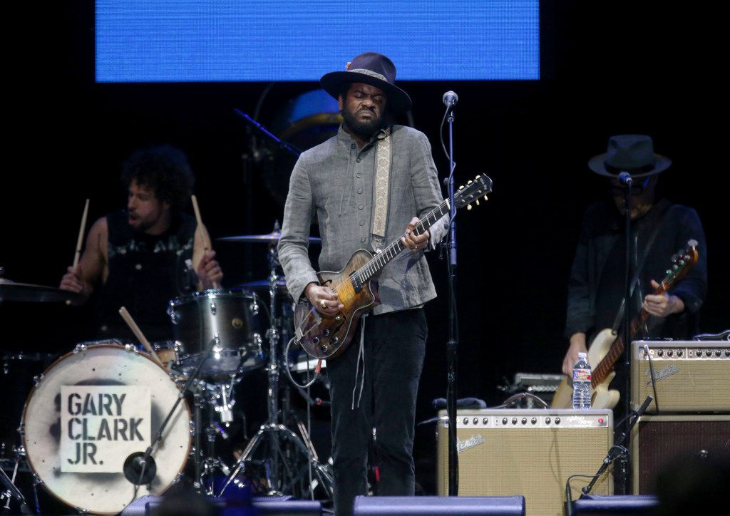 Gary Clark Jr., of Austin, performs at the Crossroads Guitar Festival on Saturday, Sept. 22, 2019 at the American Airlines Center in downtown Dallas.