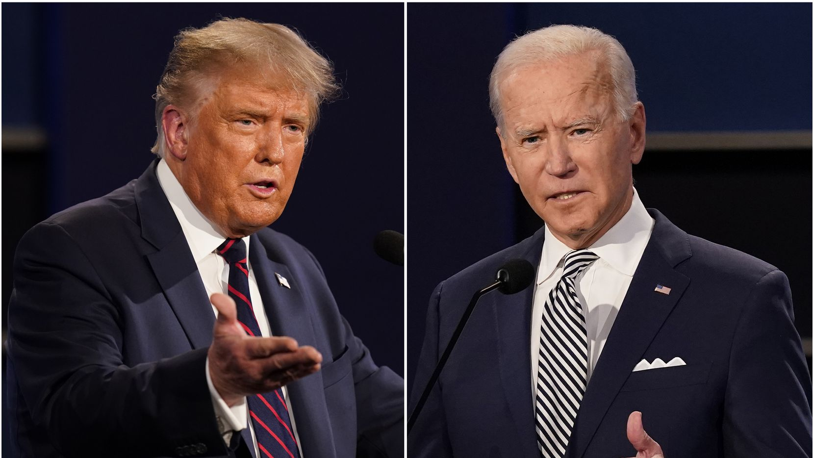 President Donald Trump and Democratic presidential candidate Joe Biden
