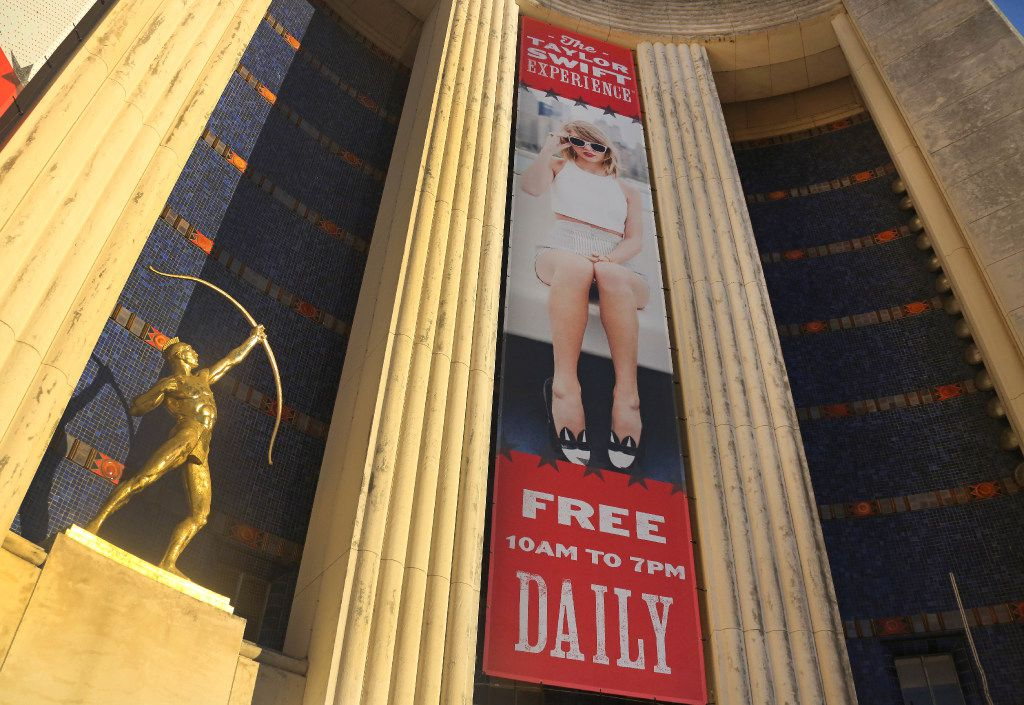 The entrance at the Taylor Swift Experience, a new exhibit at this year's State Fair of Texas, photographed at the Hall of State Building in Fair Park in Dallas on Wednesday, September 28, 2016. (Louis DeLuca/The Dallas Morning News)