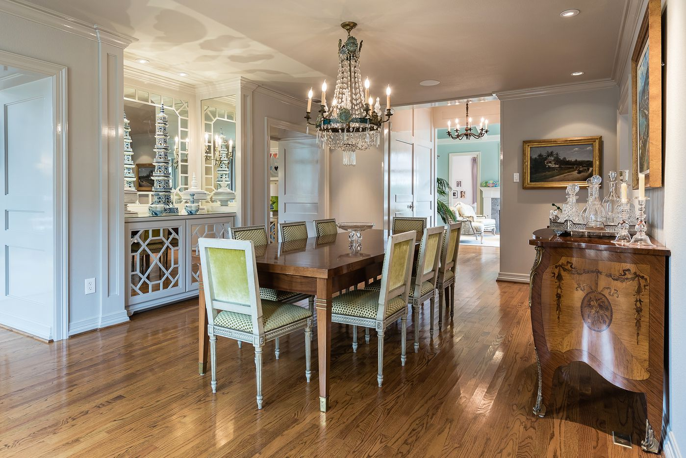 Dining room at 5845 Lupton Drive.