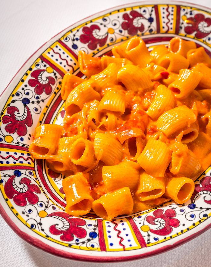 Carbone's spicy rigatoni vodka is one of its bestsellers.