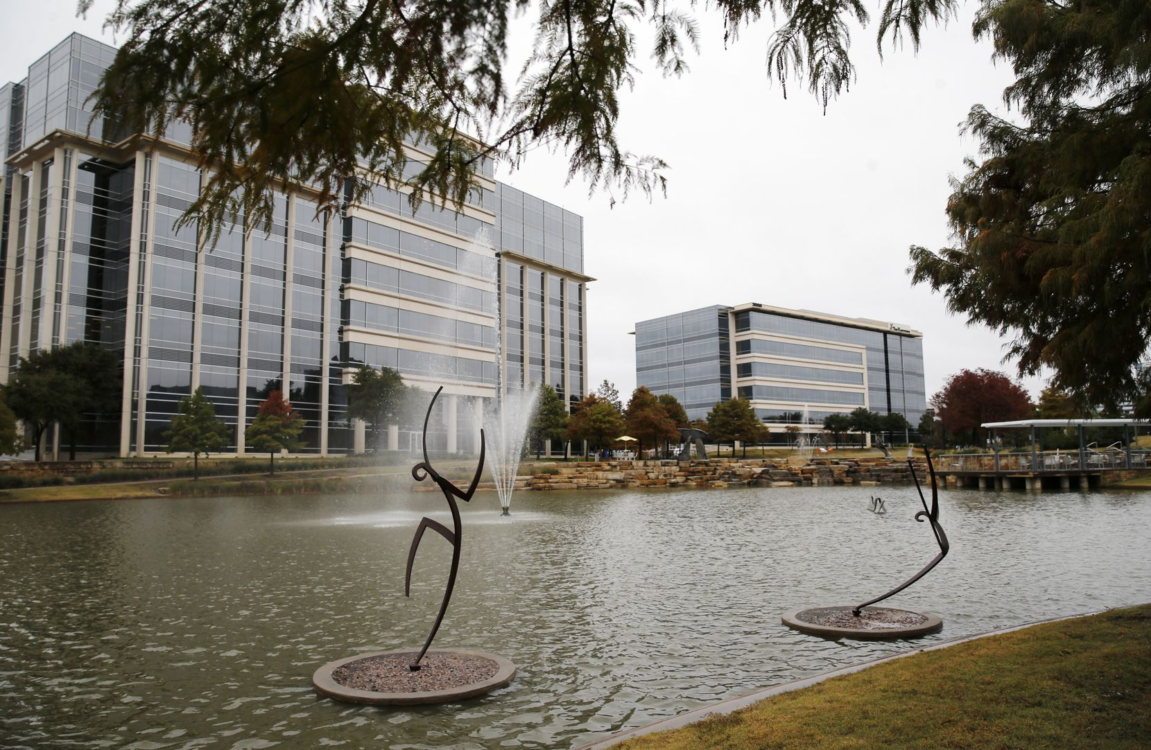 Sculptures off of Network Boulevard at Hall Office Park in Frisco.