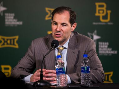 Baylor Bears head coach Scott Drew speaks to reporters after a 64-61 loss to Kansas Jayhawks on Saturday, February 22, 2020 at Ferrell Center on the Baylor University Campus in Waco.