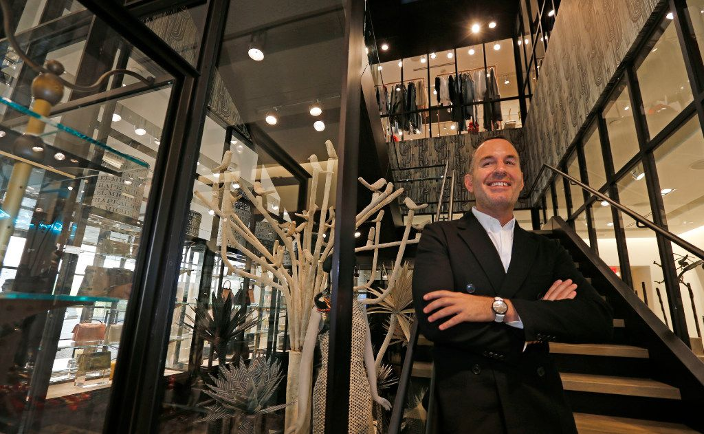 Brian Bolke, president and co-founder of inside Forty Five Ten, a new four-level store in downtown Dallas, photographed on Friday, November 11, 2016. (Louis DeLuca/The Dallas Morning News)