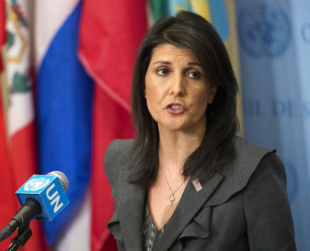 Nikki Haley when she was U.N. ambassador.