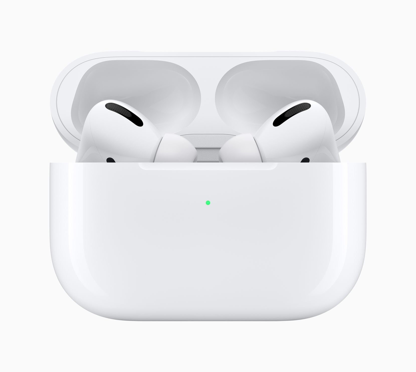 Apple's AirPods Pro with charging case.