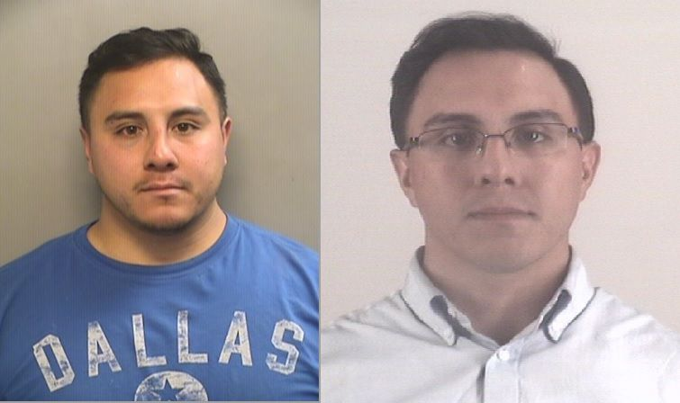 Left: Marvin Rodriguez after he was arrested in October 2015. Right: He was booked into the Tarrant County Jail on Thursday after he was convicted of murder.