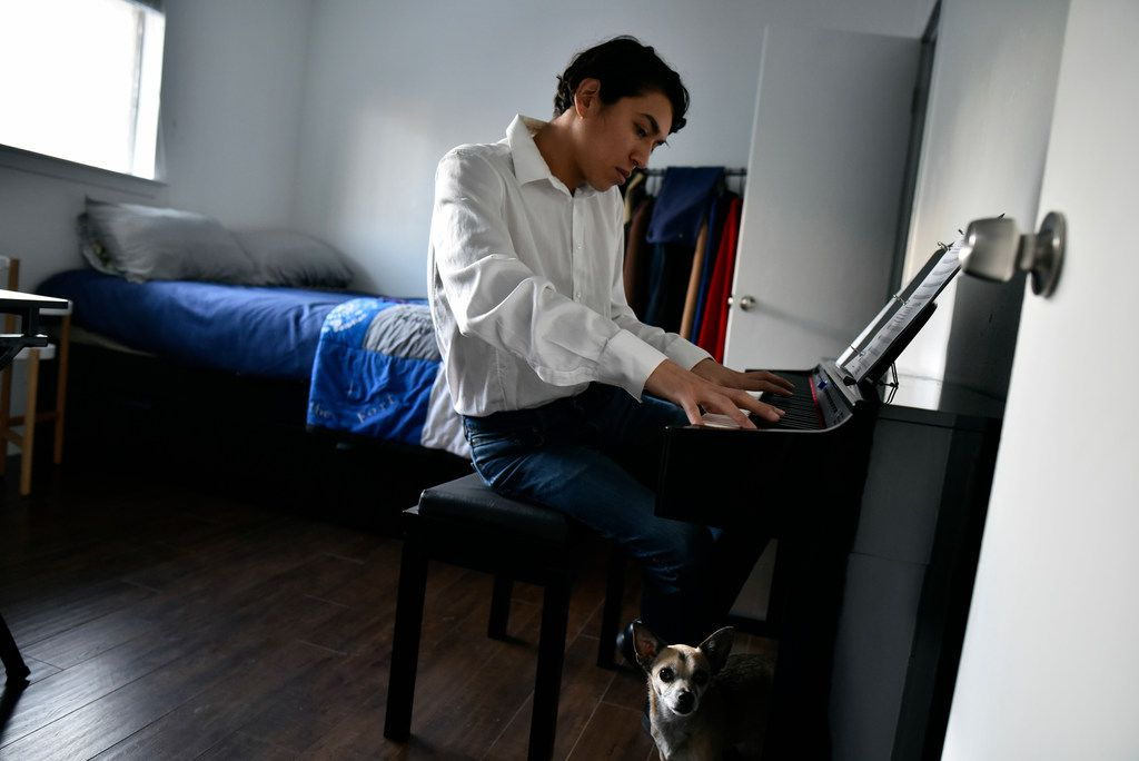 Franky at his keyboard. He's been taking piano lessons. . Ben Torres/Special Contributor