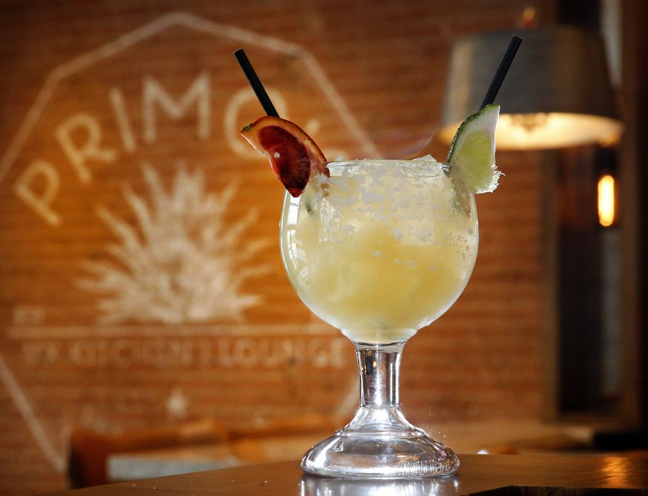 Most of Primo's cocktails cost $14. Here's the La Firma margarita which is made with lime, agave and choice of tequila.