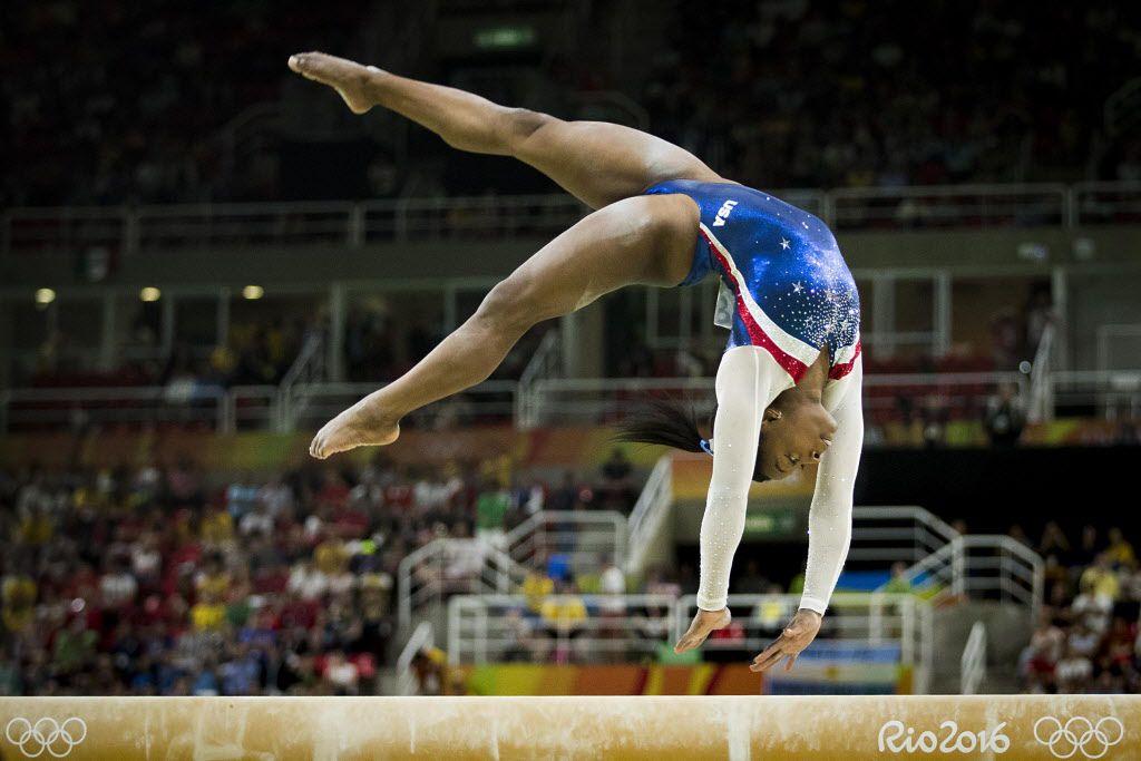 Simone Blies durante una de sus presentaciones en las olimpiadas de Río 2016.  (Smiley N. Pool/The Dallas Morning News)