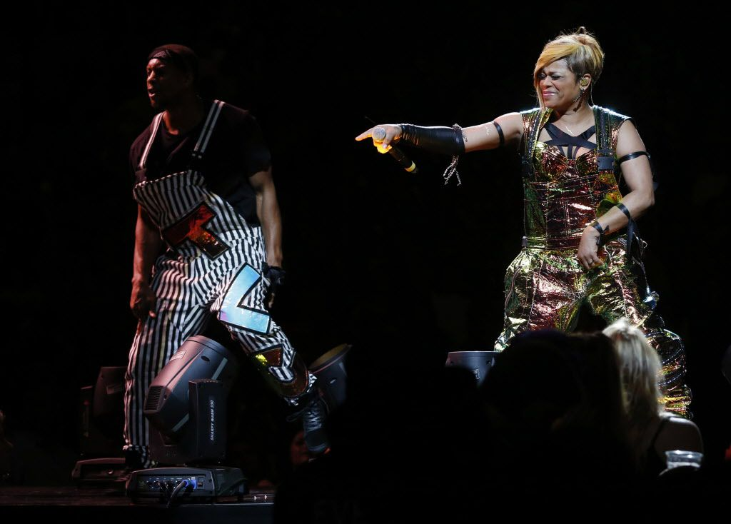 T-Boz of TLC during a performance at American Airlines Center in Dallas, on Thursday, May 14, 2015.