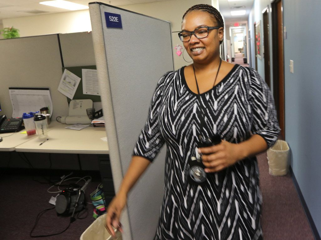Child Protective Services supervisor Nakiba Pruitt has worked for the state agency for almost 10 years and is based in Dallas. (Louis DeLuca/Staff Photographer)