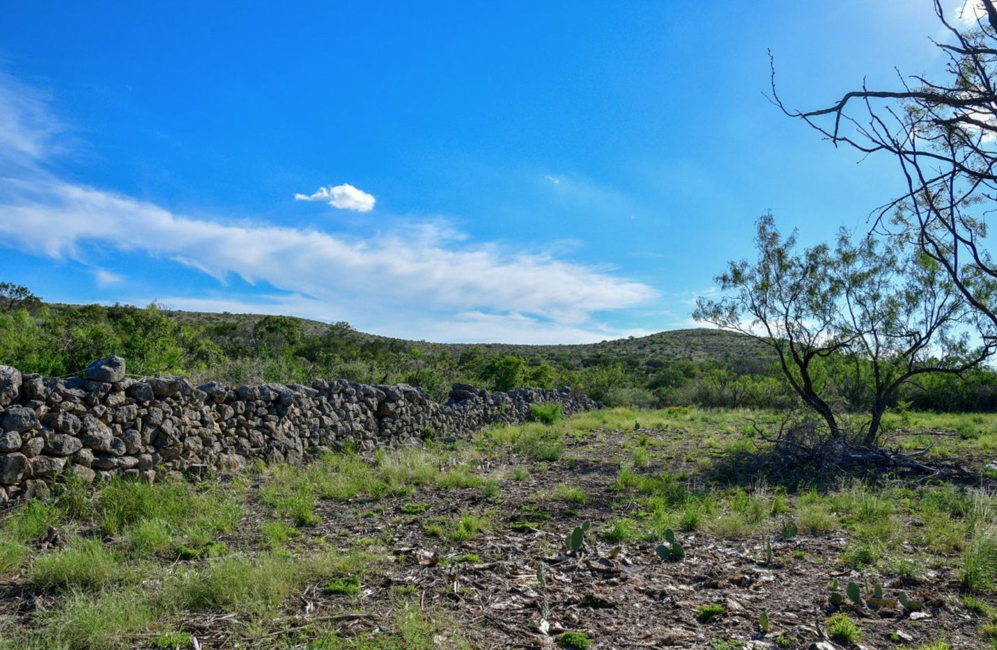 The remains of a frontier fort are on the ranch.