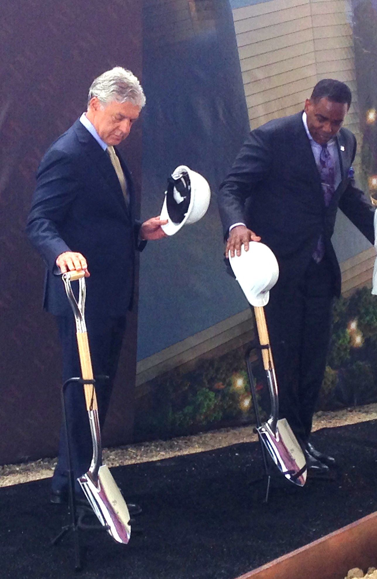 Legacy West developer Fehmi Karahan and Plano Mayor Harry LaRosiliere took part in the groundbreaking.