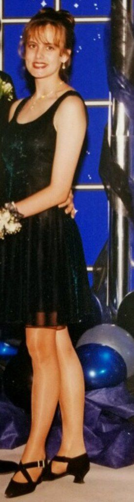 Stormy Daniels shown at her high school prom in Baton Rouge.