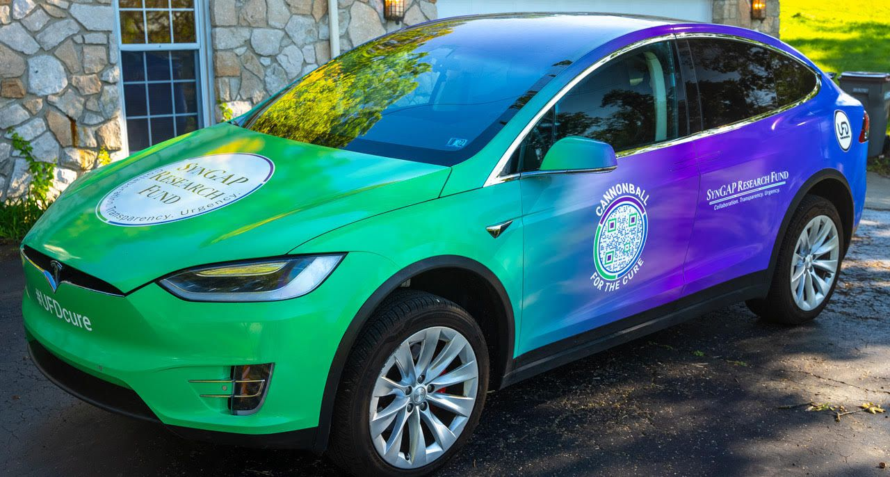 Peter Halliburton will ride in a Tesla Model X with two other fathers on a coast-to-coast Cannonball Run to raise awareness for SYNGAP1.