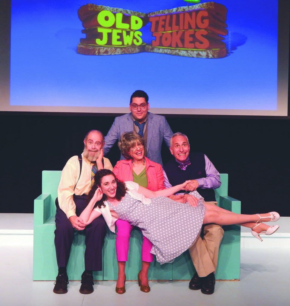 The cast of Old Jews Telling Jokes that's performing at the Eisemann Center in Richardson, Texas, through July 28, 2019.