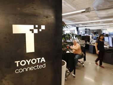 Toyota Connected's office in Legacy West is shown in 2018.