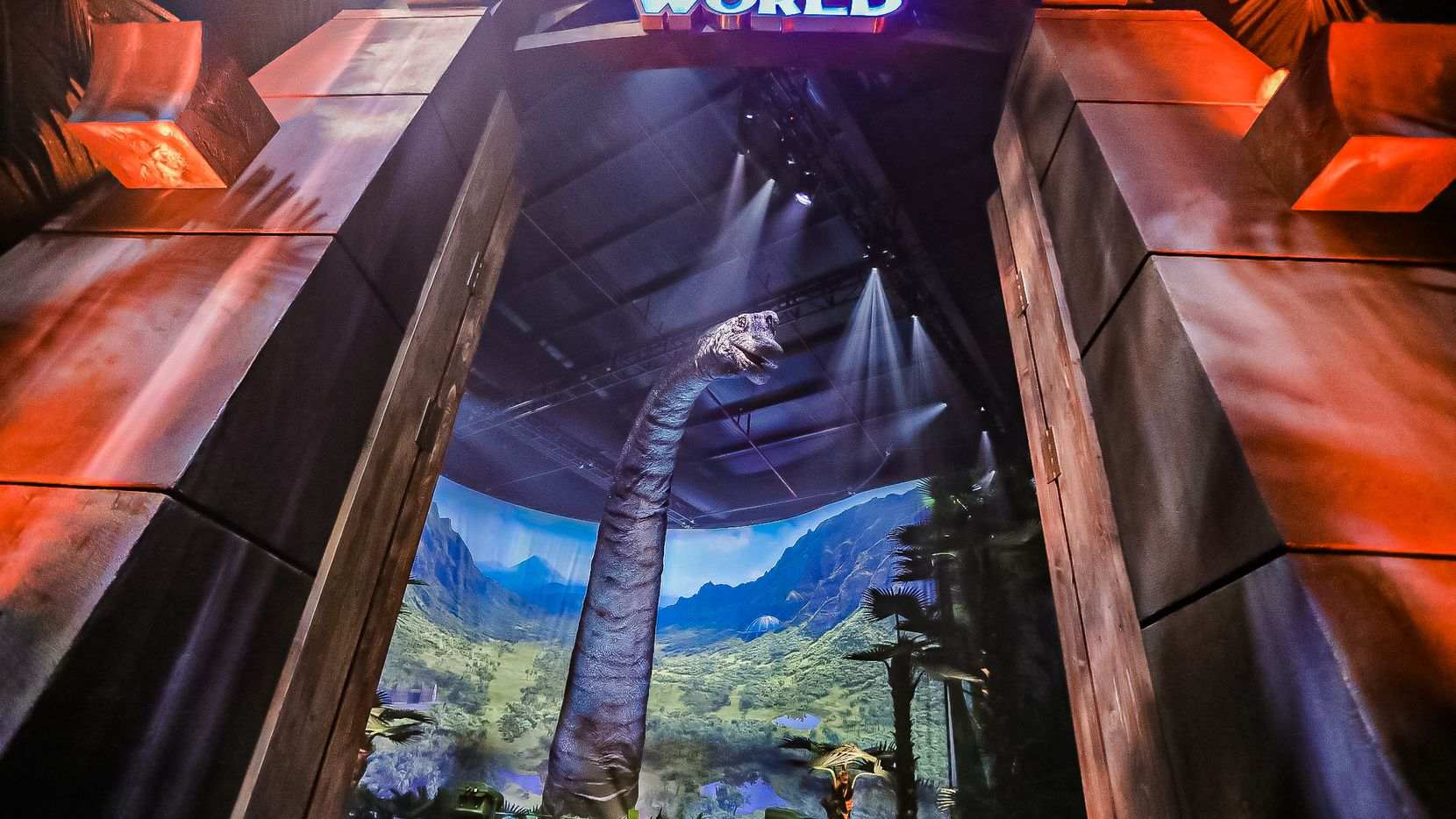 Visitors to Jurassic World: The Exhibition will enter through a gate inspired by the movie franchise.