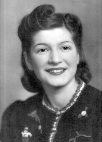 This portrait of Betty was taken in the early years of her marriage to Navy man Bob, whom she wed in 1939. Those who knew Betty remember her compassion and kindness, her class, her beautiful singing voice and her smile.