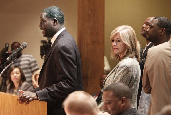 Dallas County District Attorney Craig Watkins, addressing the Commissioners Court in late June, praised the work of first assistant Terri Moore, who left the office July 1. He's had a rough relationship with the court over budget matters and his handling of an investigation into two county constables.