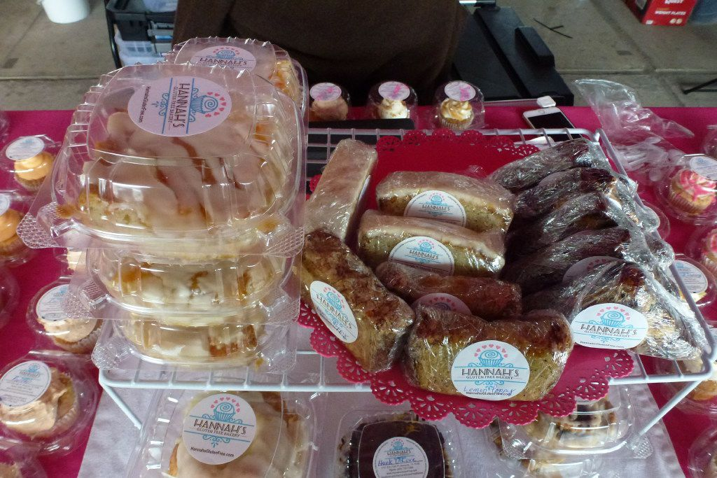 Hannah's Gluten Free Bakery, which is based in Mesquite, sets up shop at the Dallas Farmer's Market.