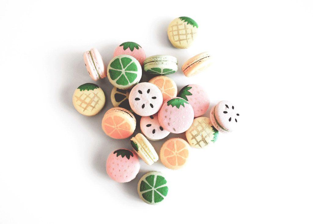 Summer fruit macarons, box of six, $20, We The Birds, wethebirdsmacarons.com