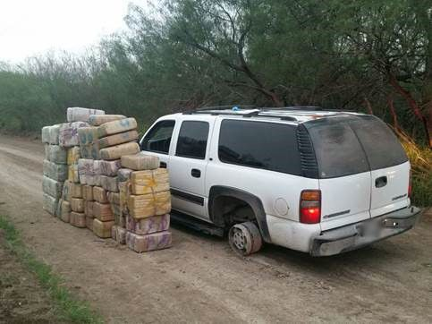 Authorities found about 1,200 pounds of marijuana inside the Chevrolet Suburban.
