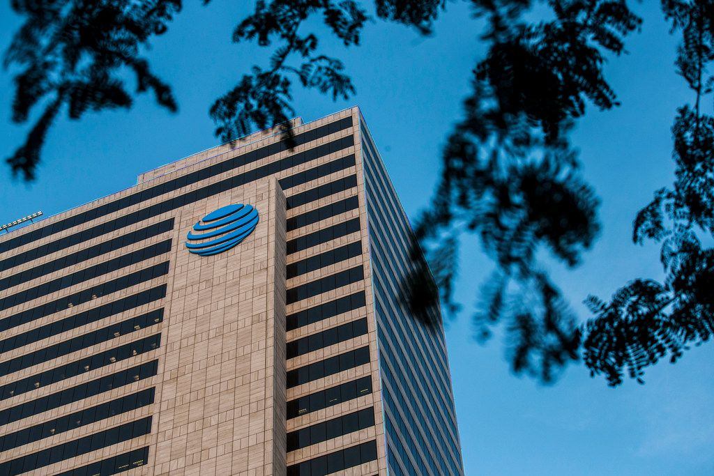 The AT&T headquarters at Whitacre Tower in Dallas.