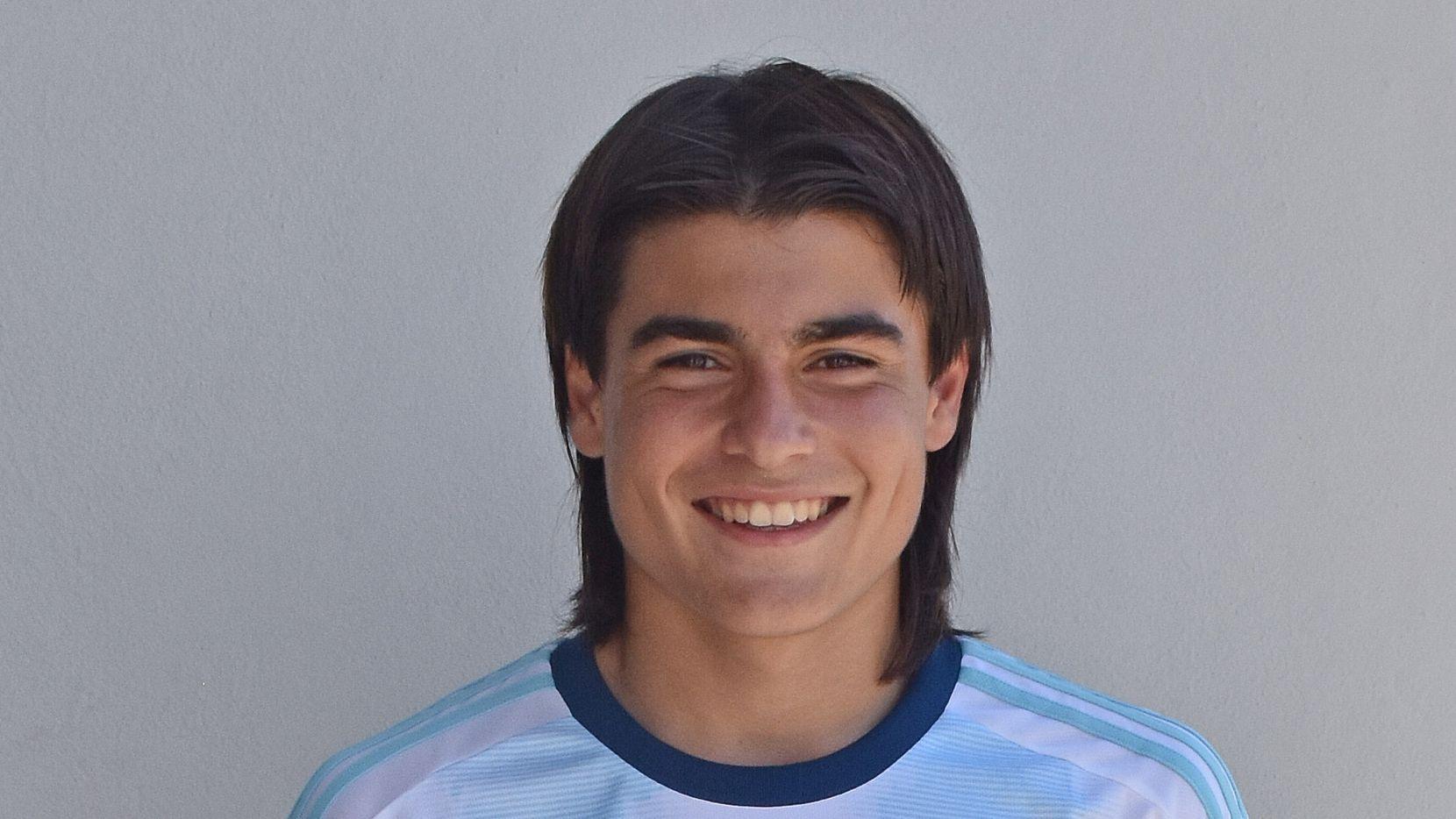 Luka Romero jugó con la selección de Argentina en la eliminatoria sudamericana Sub-15 de 2019.