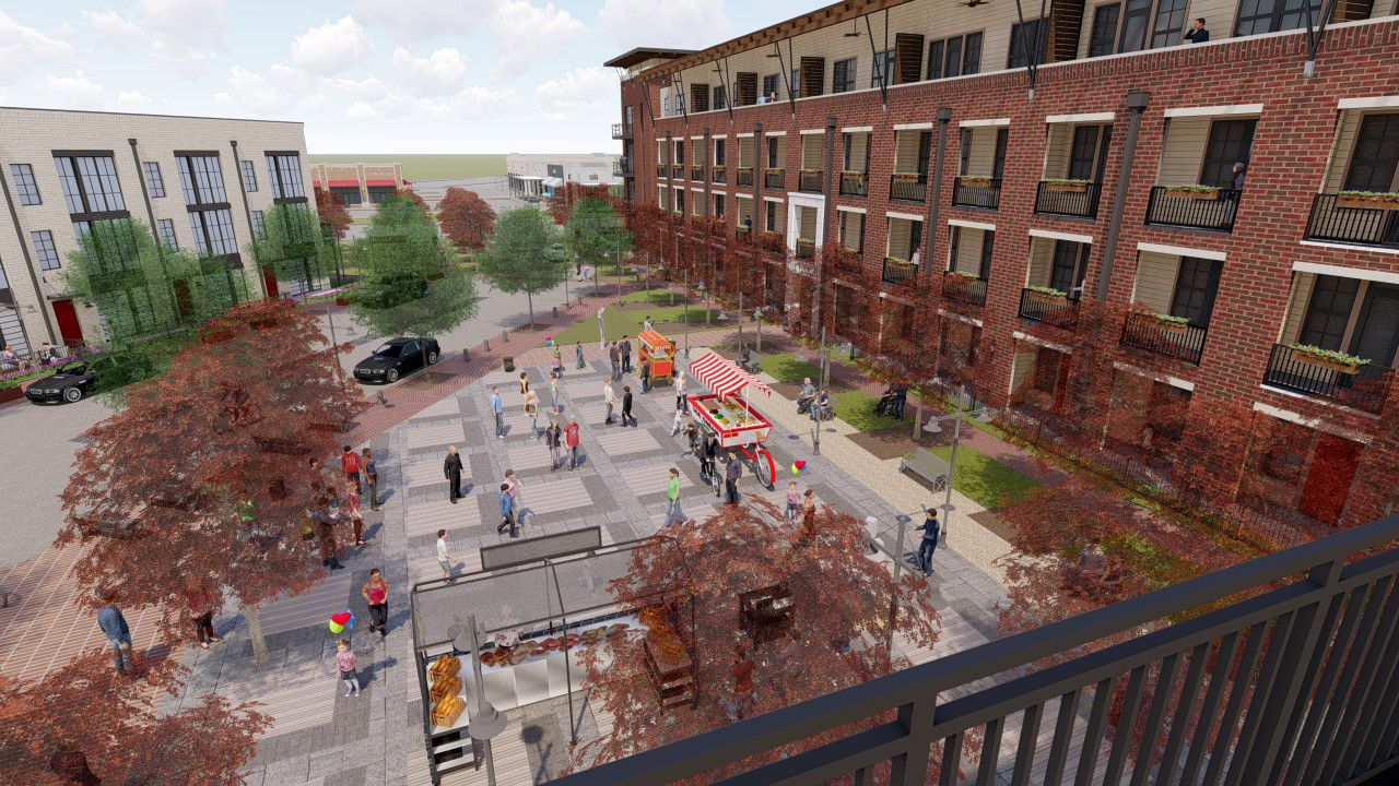Billingsley Co.'s planned Grapevine project will include seven public park or plaza areas.