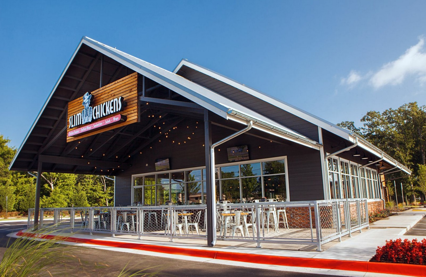 Here's a look at an existing Slim Chickens. Fort Worth gets its first this summer.