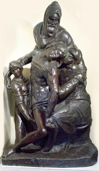 """A bronze casting after Michelangelo's Florentine """"Pieta,"""" on display at the Museum of Biblical Arts in Dallas"""