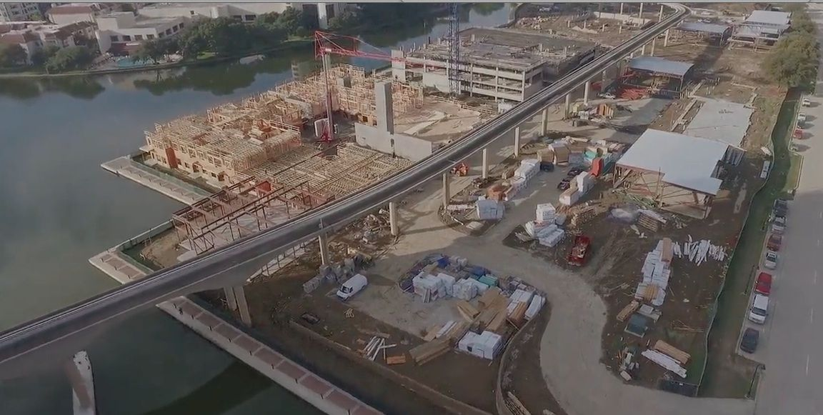 The Water Street project is under construction on O'Connor Boulevard in Irving.